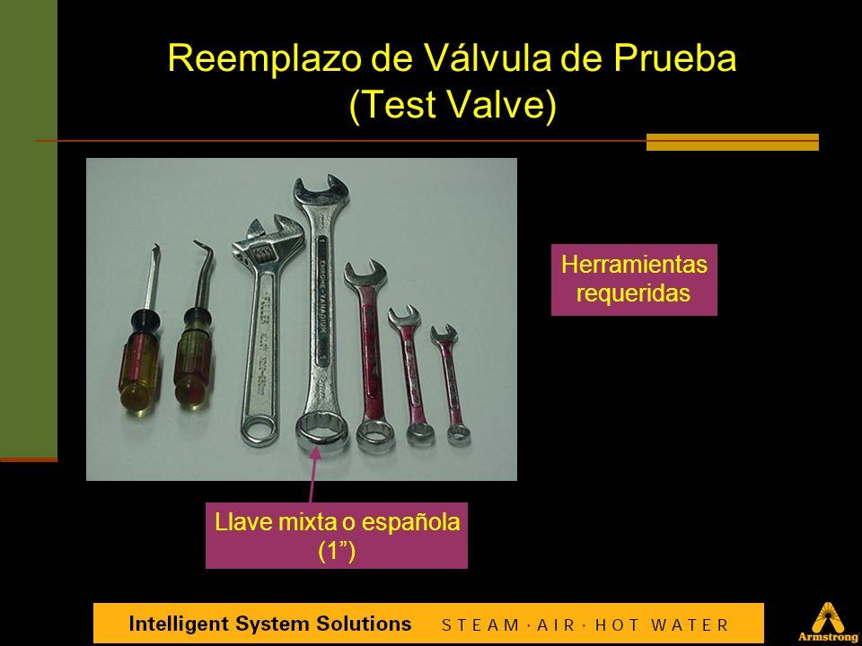 Reemplazo de Válvula de Prueba (Test Valve) Válvula de prueba Ensamble para reparación de válvula de prueba