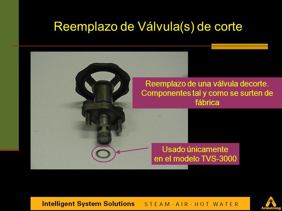 Reemplazo de Válvula(s) de corte Componentes de la válvula de corte tipo pistón para una TVS-4000