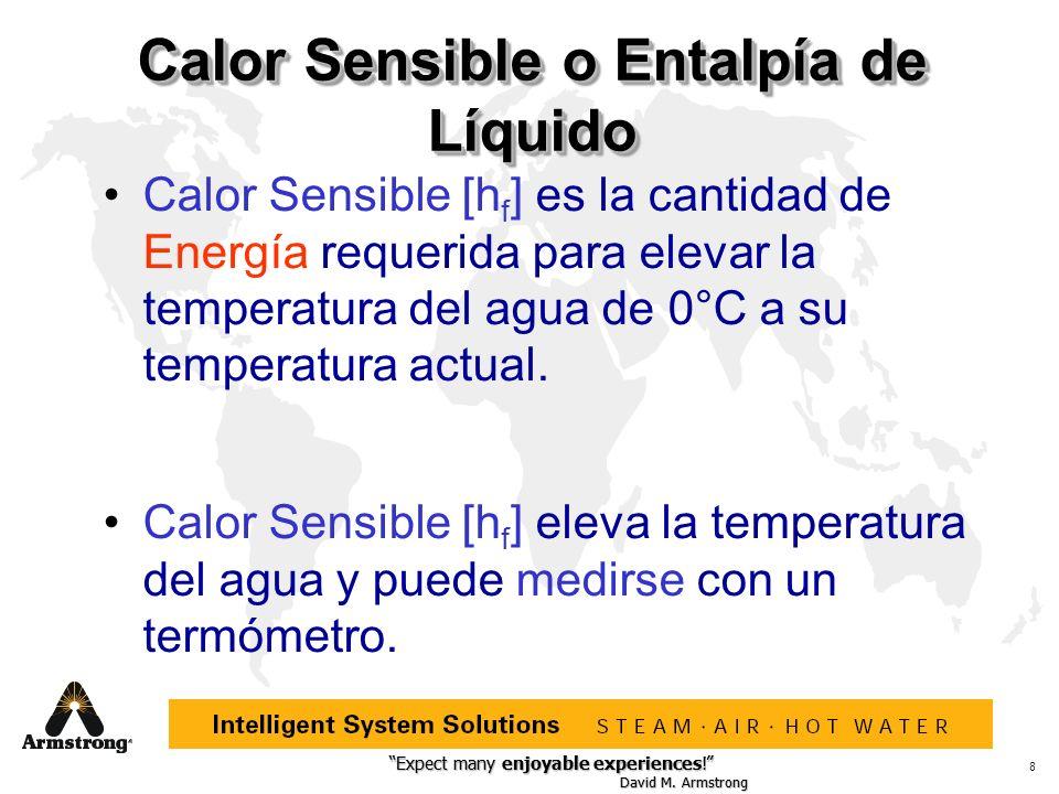 Ejemplos: Vapor a 250.33 o F tiene presión de 15.3 Lb/Pulg 2, con 945.3 Btus/lb de Calor Latente Vapor a 5.3 Lb/Pulg 2 tiene temperatura de 227.96°F, con 196.16 Btu/lb de Calor Sensible
