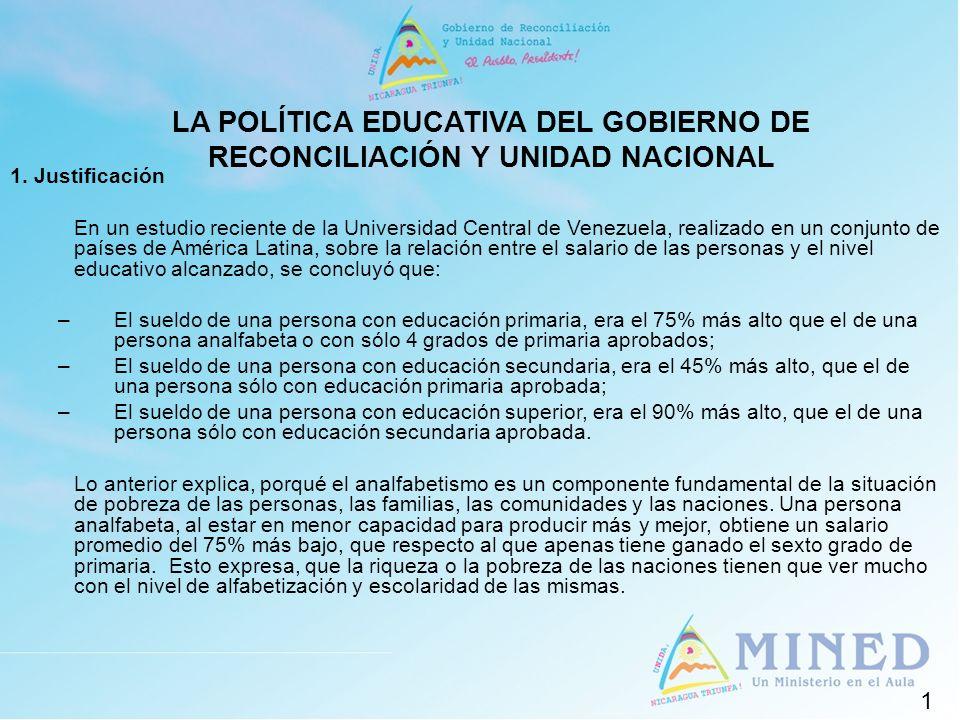 1. Justificación En un estudio reciente de la Universidad Central de Venezuela, realizado en un conjunto de países de América Latina, sobre la relació