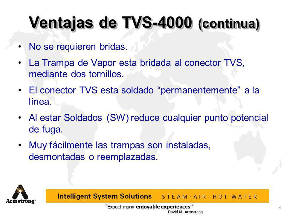 Expect many enjoyable experiences! David M. Armstrong Expect many enjoyable experiences! David M. Armstrong 14 Ventajas de TVS-4000 (continua) No se r