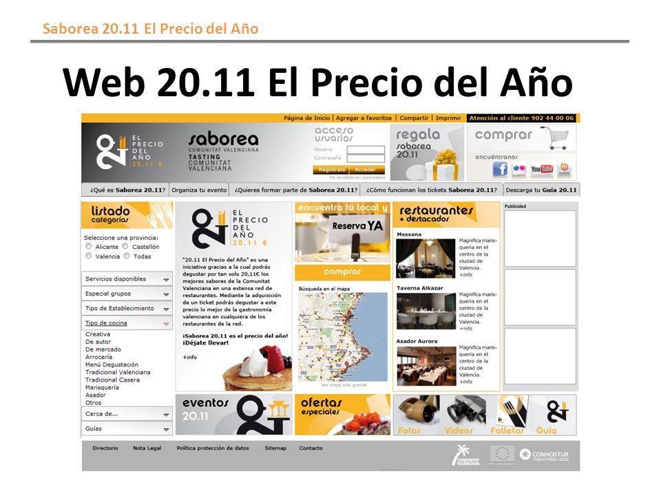 Web 20.11 El Precio del Año Saborea 20.11 El Precio del Año