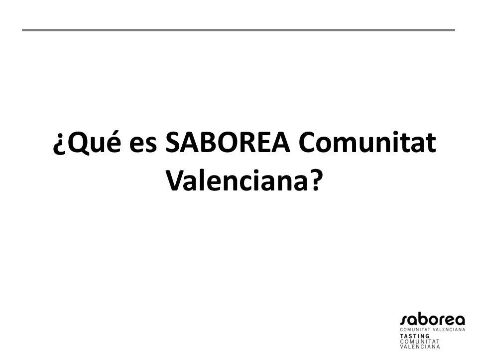 ¿Qué es SABOREA Comunitat Valenciana