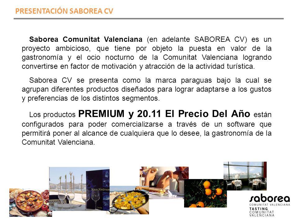 PRESENTACIÓN SABOREA CV Saborea Comunitat Valenciana (en adelante SABOREA CV) es un proyecto ambicioso, que tiene por objeto la puesta en valor de la gastronomía y el ocio nocturno de la Comunitat Valenciana logrando convertirse en factor de motivación y atracción de la actividad turística.