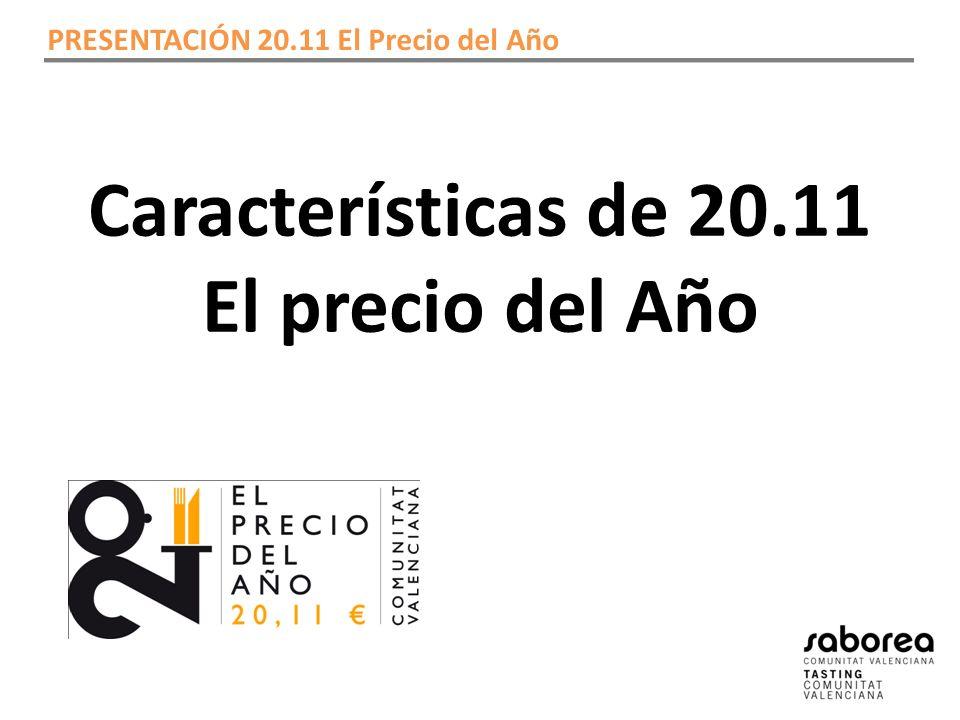 Características de 20.11 El precio del Año PRESENTACIÓN 20.11 El Precio del Año