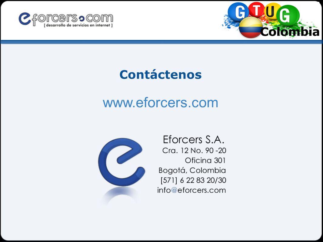 Contáctenos www.eforcers.com