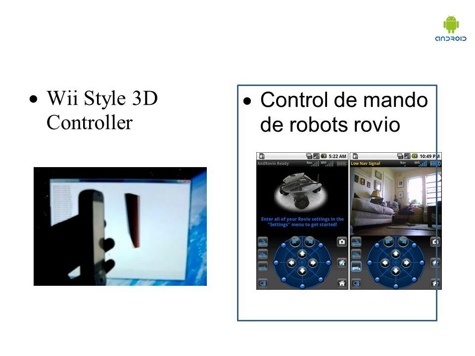 Wii Style 3D Controller Control de mando de robots rovio