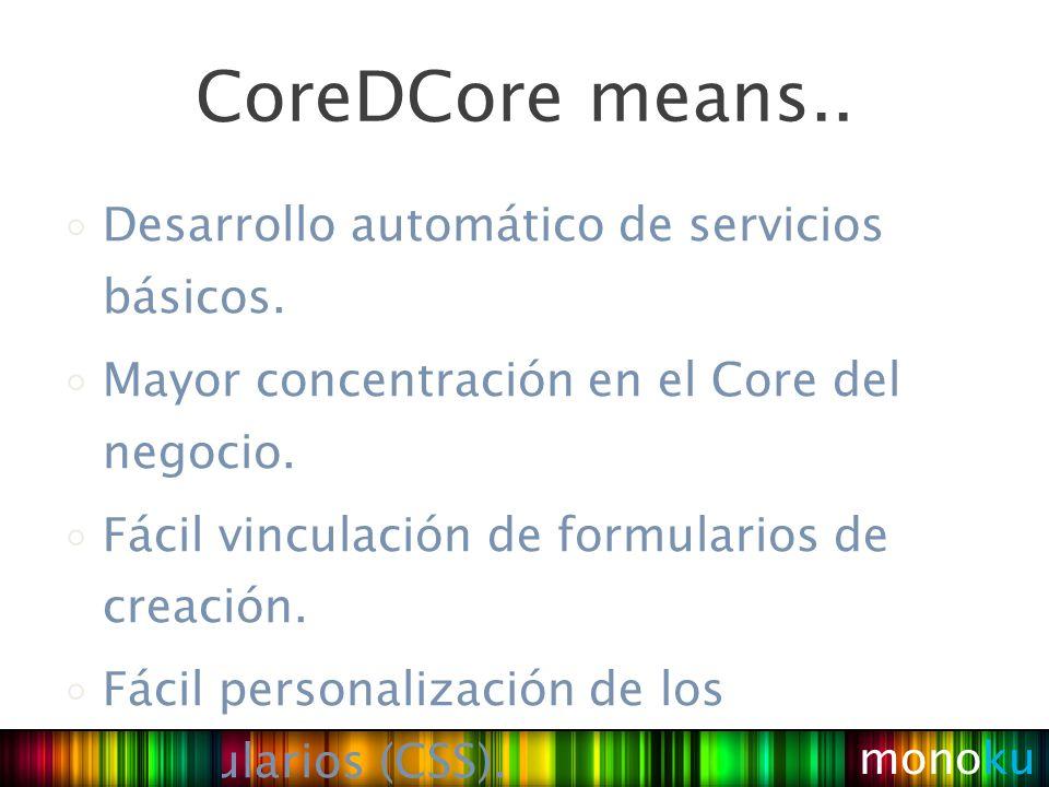 Desarrollo automático de servicios básicos. Mayor concentración en el Core del negocio.