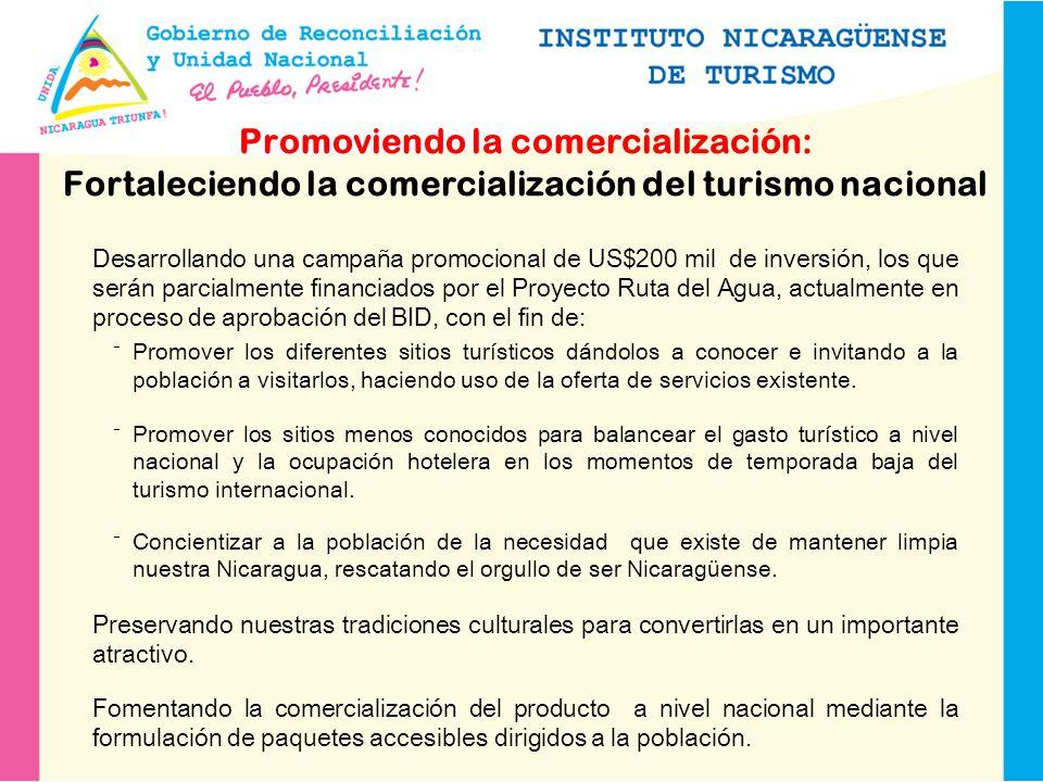 Fortaleciendo la promoción del turismo internacional Fortaleciendo la promoción en Centroamérica, especialmente en El Salvador, Honduras y Costa Rica.