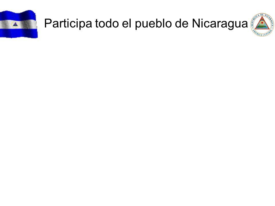 Participa todo el pueblo de Nicaragua