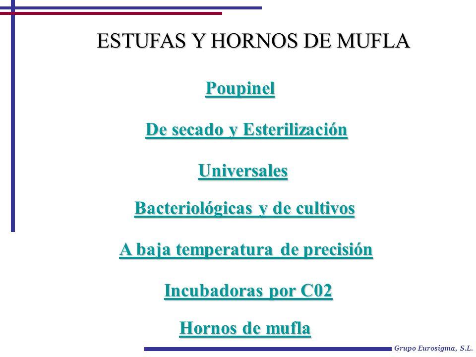 Grupo Eurosigma, S.L. Poupinel De secado y Esterilización De secado y Esterilización Universales Bacteriológicas y de cultivos Bacteriológicas y de cu