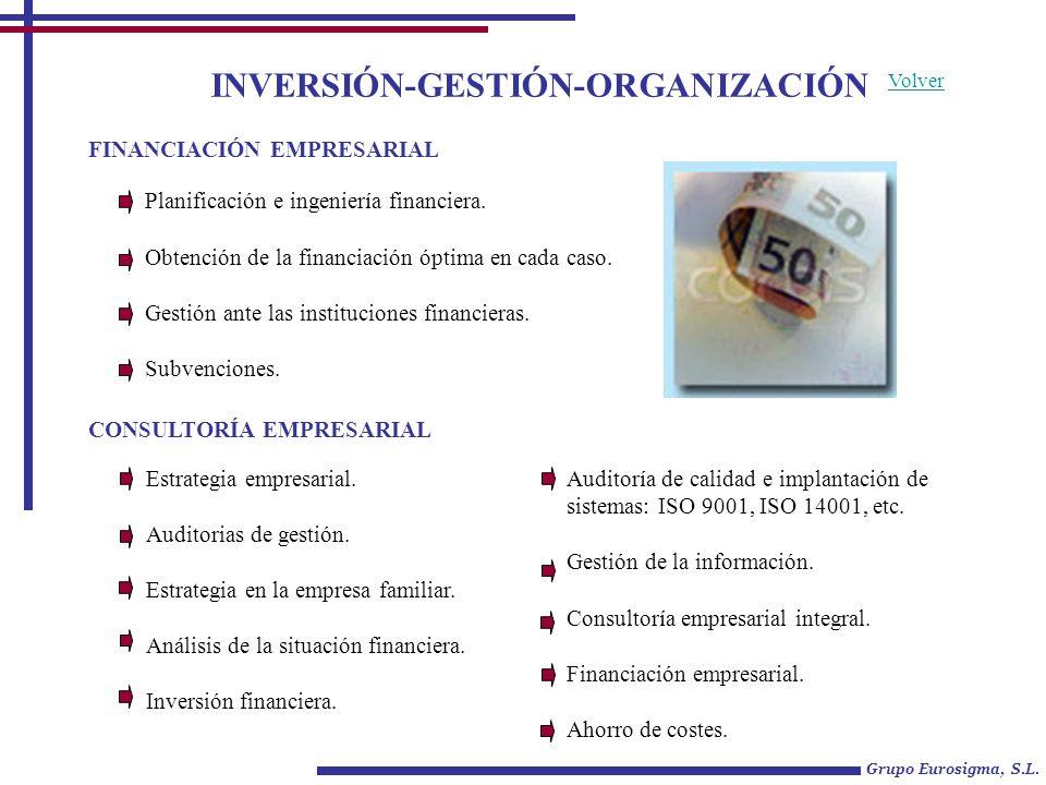 Grupo Eurosigma, S.L.Volver FISCALIDAD Consultoría fiscal de alto nivel.