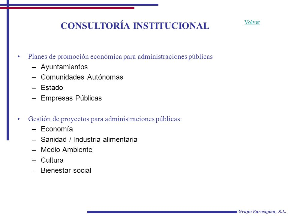 CONSULTORÍA DE PROYECTOS CULTURALES Grupo Eurosigma, S.L.
