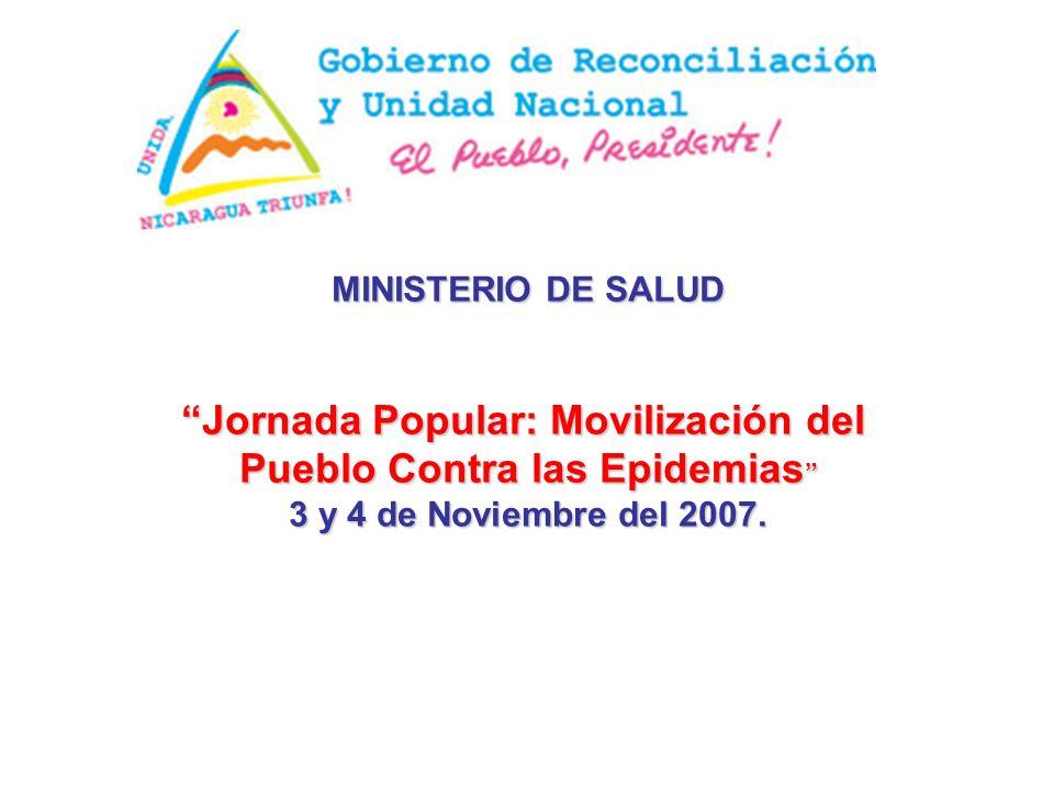 MINISTERIO DE SALUD Jornada Popular: Movilización del Pueblo Contra las Epidemias Pueblo Contra las Epidemias 3 y 4 de Noviembre del 2007.