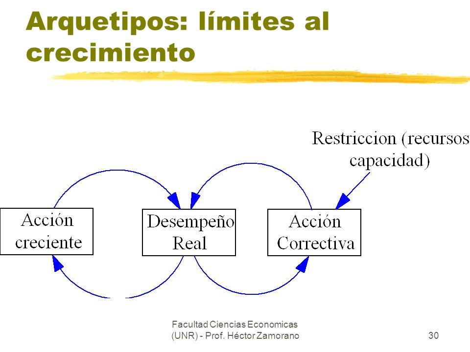 Facultad Ciencias Economicas (UNR) - Prof. Héctor Zamorano30 Arquetipos: límites al crecimiento