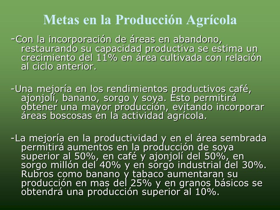 METAS 2007/2008 A nivel global el sector se propone: A nivel global el sector se propone: Un incremento en el Valor Bruto de la Producción en 6.24%.Un