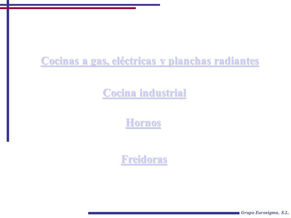Grupo Eurosigma, S.L. Cocinas a gas, eléctricas y planchas radiantes Cocinas a gas, eléctricas y planchas radiantes Cocina industrial Cocina industria