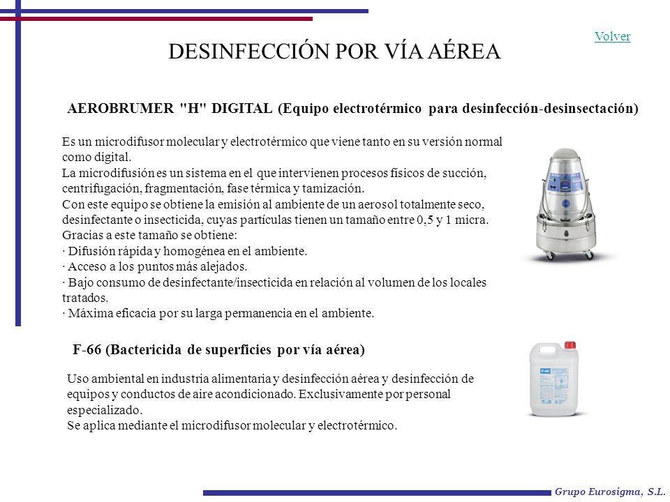 BACTERICIDA-FUNGICIDA-DESINFECTANTE TERMINAL POR VÍA AÉREA Uso ambiental en industria alimentaria y desinfección aérea y desinfección de equipos y conductos de aire acondicionado.