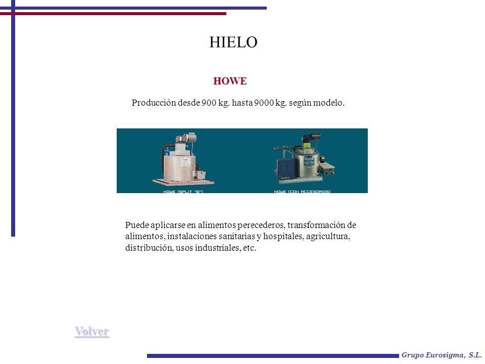 Grupo Eurosigma, S.L.HIELO HOWE Producción desde 900 kg.