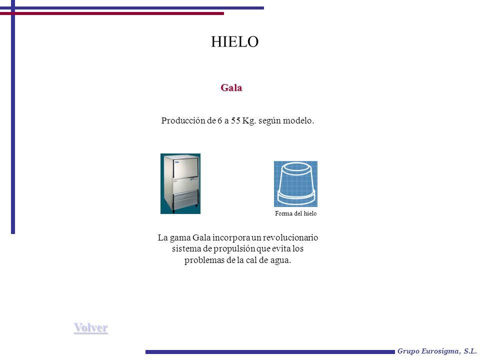 Grupo Eurosigma, S.L.HIELO Gala Producción de 6 a 55 Kg.
