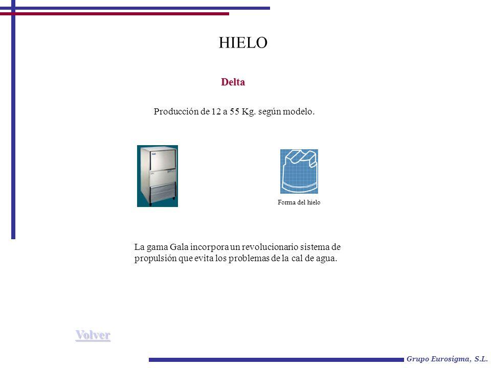 Grupo Eurosigma, S.L.HIELO Delta Producción de 12 a 55 Kg.