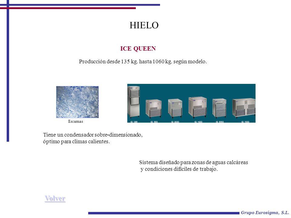 Grupo Eurosigma, S.L.HIELO ICE QUEEN Producción desde 135 kg.