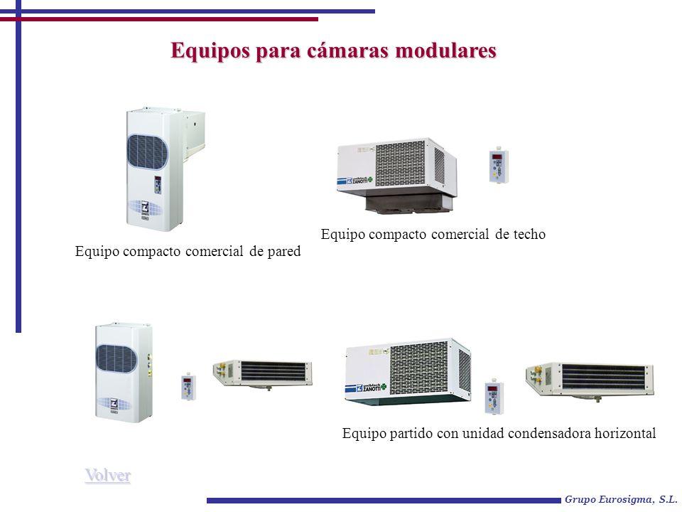 Equipos para cámaras modulares Grupo Eurosigma, S.L. Equipo compacto comercial de pared Equipo compacto comercial de techo Equipo partido con unidad c