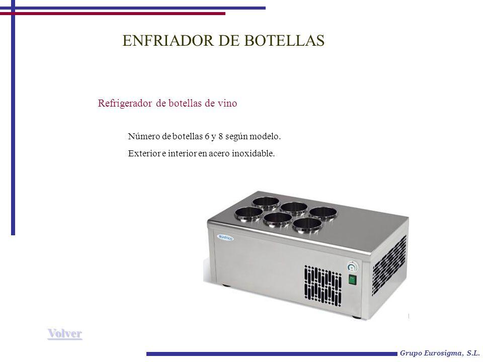 ENFRIADOR DE BOTELLAS Refrigerador de botellas de vino Número de botellas 6 y 8 según modelo.