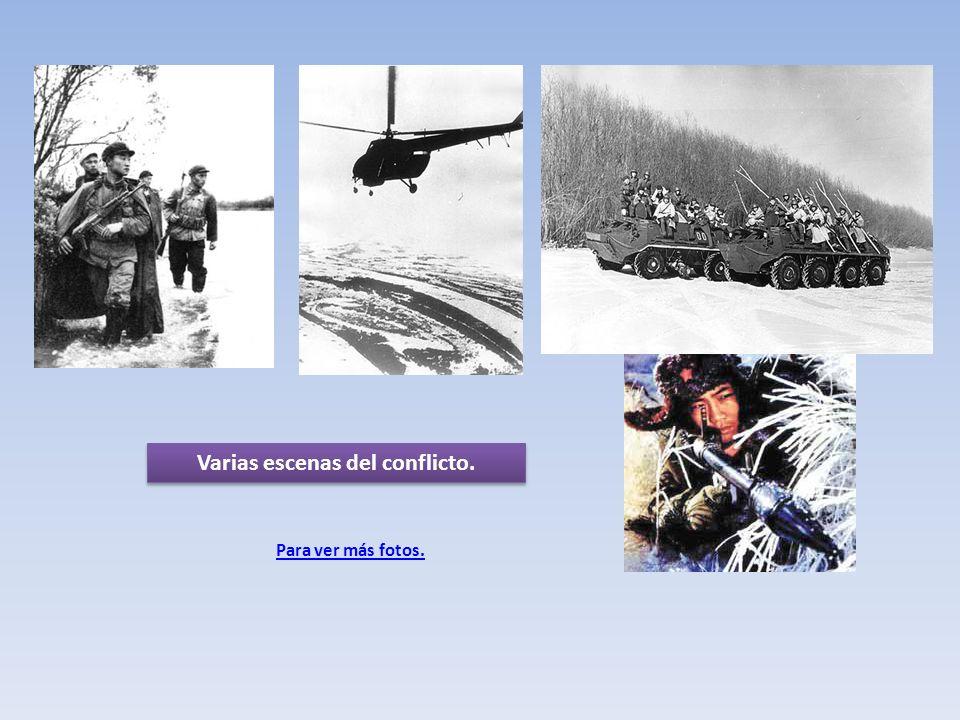 Para ver más fotos. Varias escenas del conflicto.