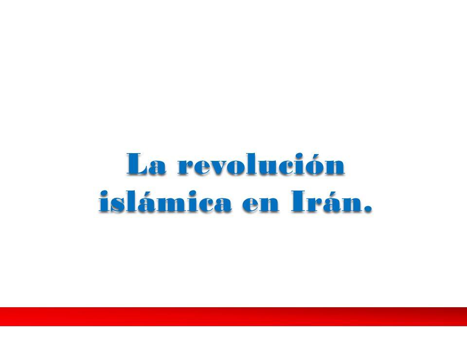 La revolución islámica en Irán.