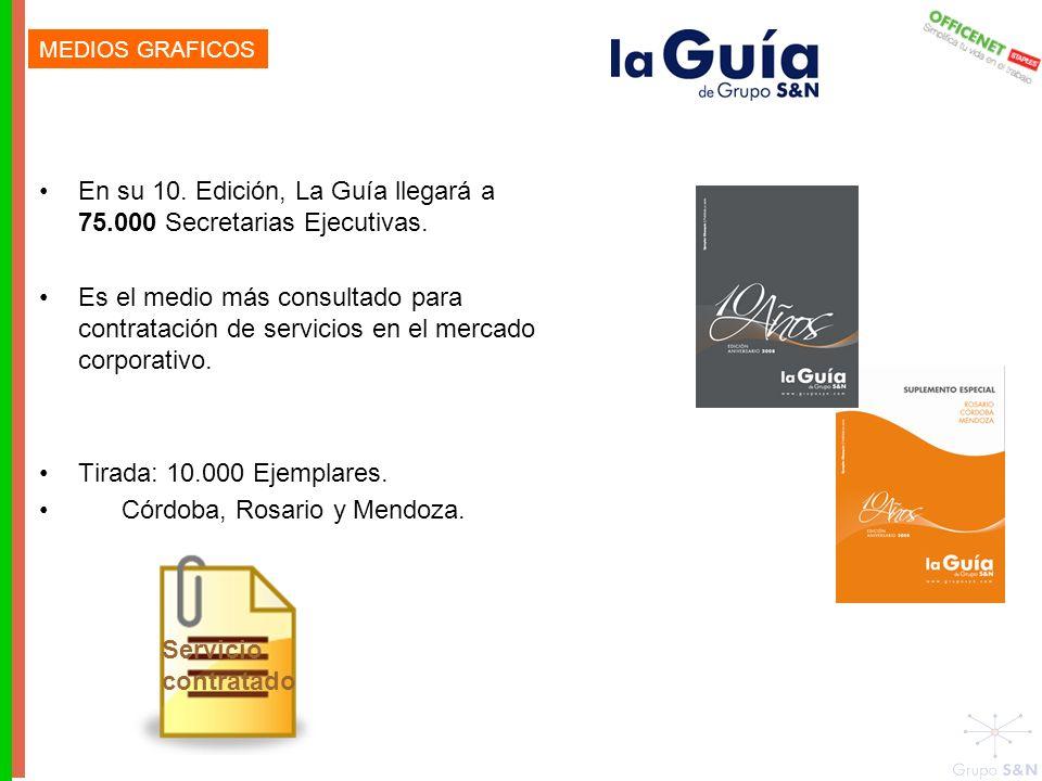 En su 10.Edición, La Guía llegará a 75.000 Secretarias Ejecutivas.