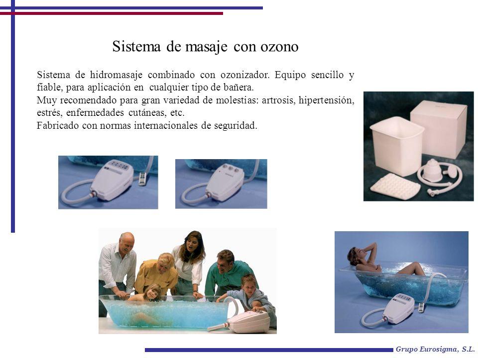 Grupo Eurosigma, S.L. Sistema de masaje con ozono Sistema de hidromasaje combinado con ozonizador.