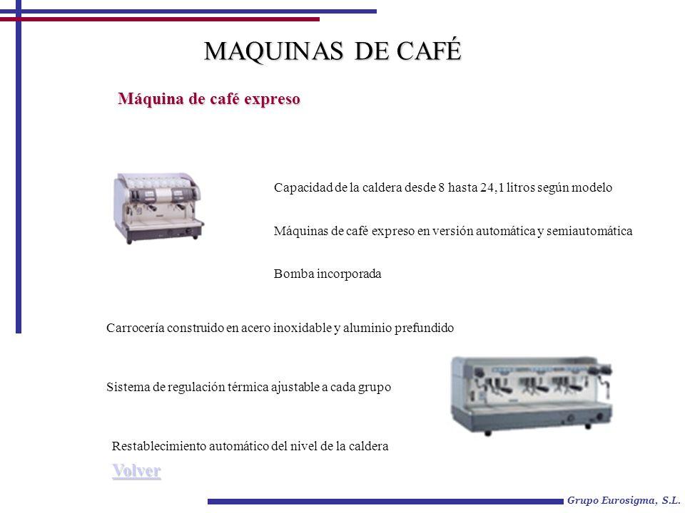 Grupo Eurosigma, S.L. Máquina de café expreso Máquinas de café expreso en versión automática y semiautomática Bomba incorporada Carrocería construido