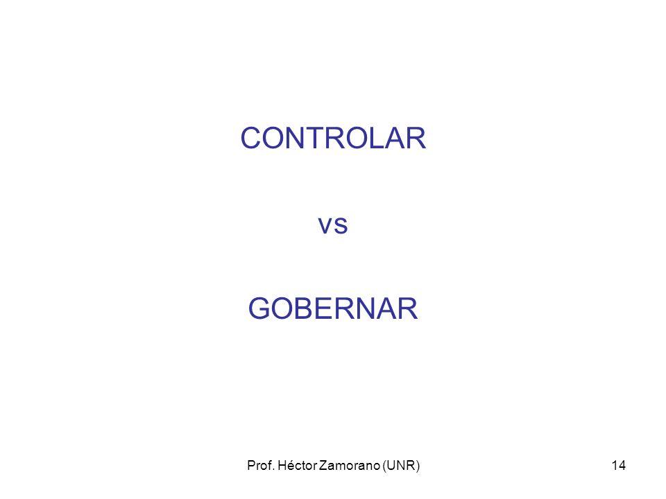 Prof. Héctor Zamorano (UNR)14 CONTROLAR vs GOBERNAR
