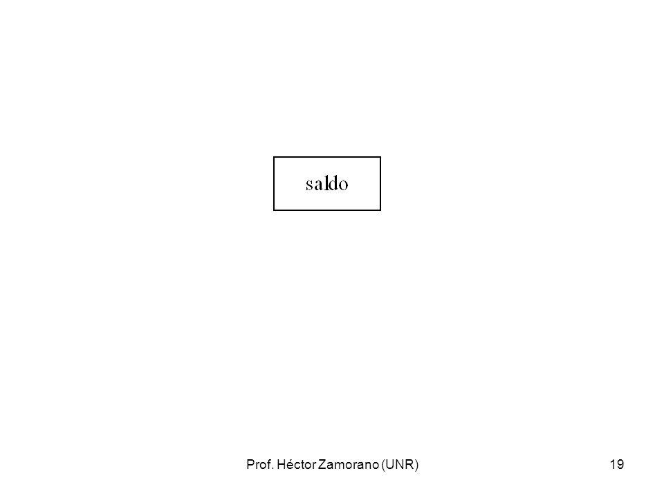 Prof. Héctor Zamorano (UNR)19