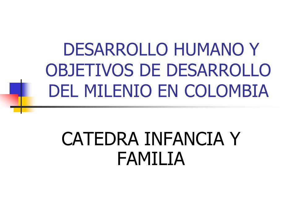 DESARROLLO HUMANO Y OBJETIVOS DE DESARROLLO DEL MILENIO EN COLOMBIA CATEDRA INFANCIA Y FAMILIA
