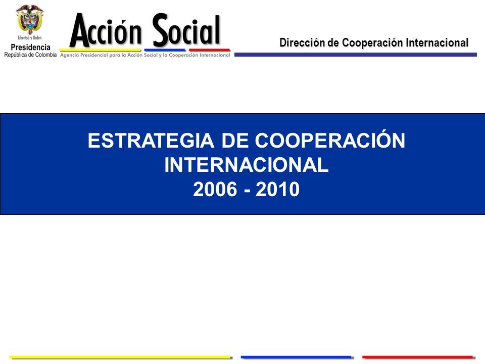 Dirección de Cooperación Internacional ESTRATEGIA DE COOPERACIÓN INTERNACIONAL 2006 - 2010