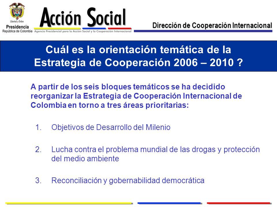 Cuál es la orientación temática de la Estrategia de Cooperación 2006 – 2010 .