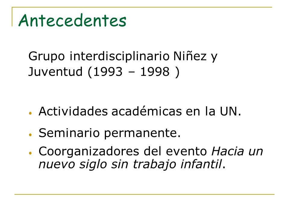 Nace el Observatorio 1999 - Formulación del proyecto e inicio de actividades.