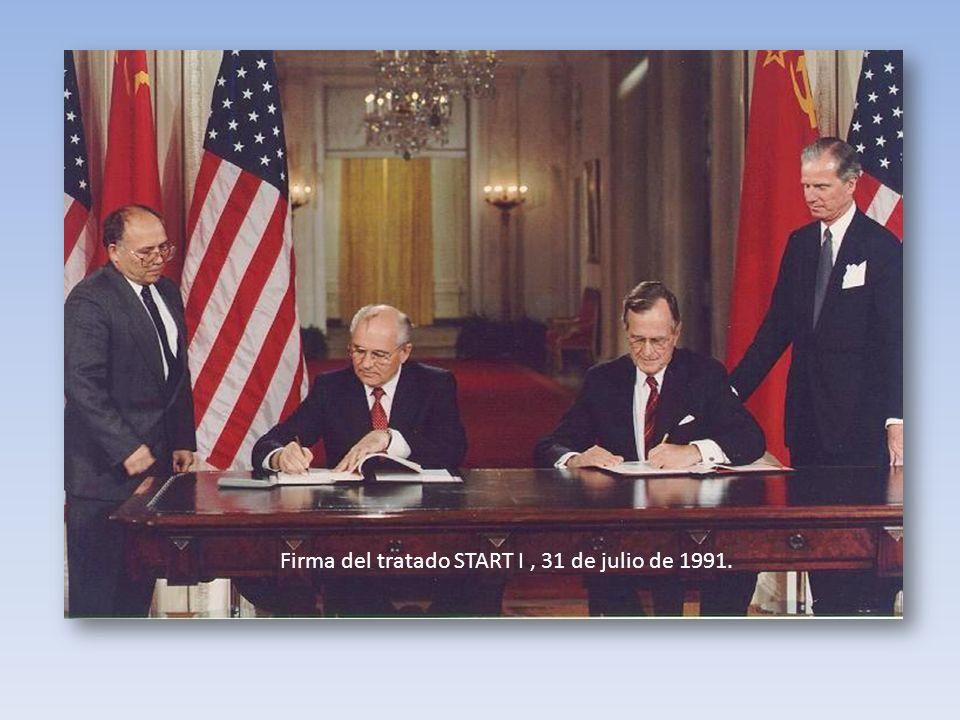 Firma del tratado START I, 31 de julio de 1991.