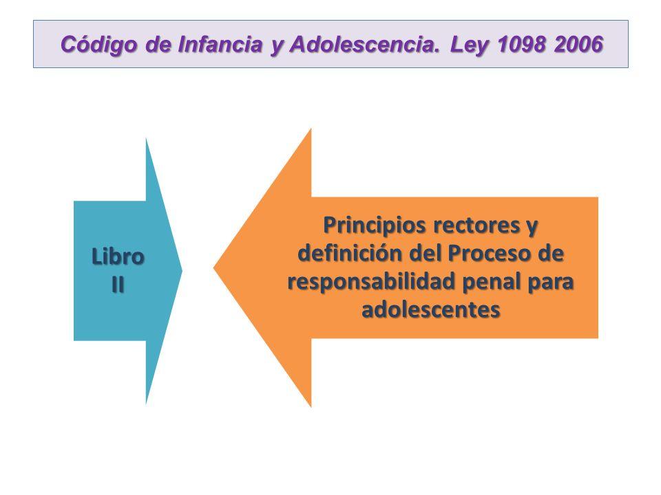 Código de Infancia y Adolescencia. Ley 1098 2006 Libro II Principios rectores y definición del Proceso de responsabilidad penal para adolescentes