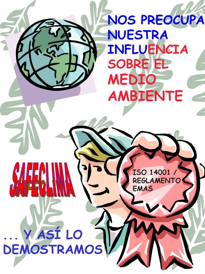 NOS PREOCUPA NUESTRA INFLUENCIA SOBRE EL MEDIO AMBIENTE... Y ASÍ LO DEMOSTRAMOS ISO 14001 / REGLAMENTO EMAS