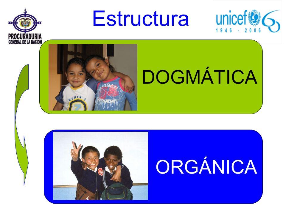 ORGÁNICA DOGMÁTICA Estructura