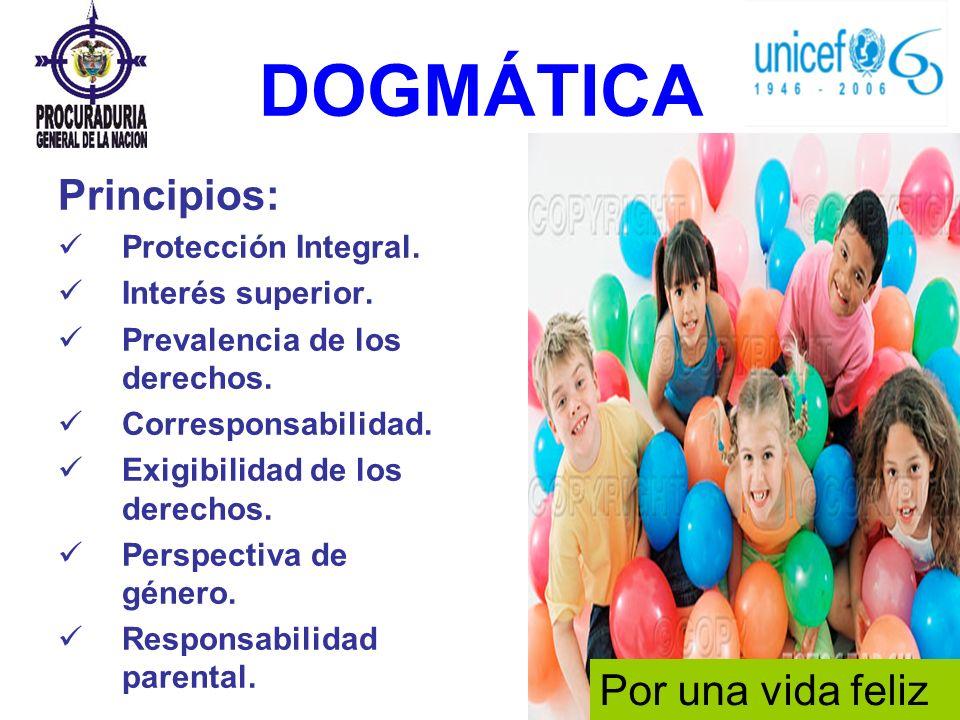 DOGMÁTICA Principios: Protección Integral. Interés superior. Prevalencia de los derechos. Corresponsabilidad. Exigibilidad de los derechos. Perspectiv