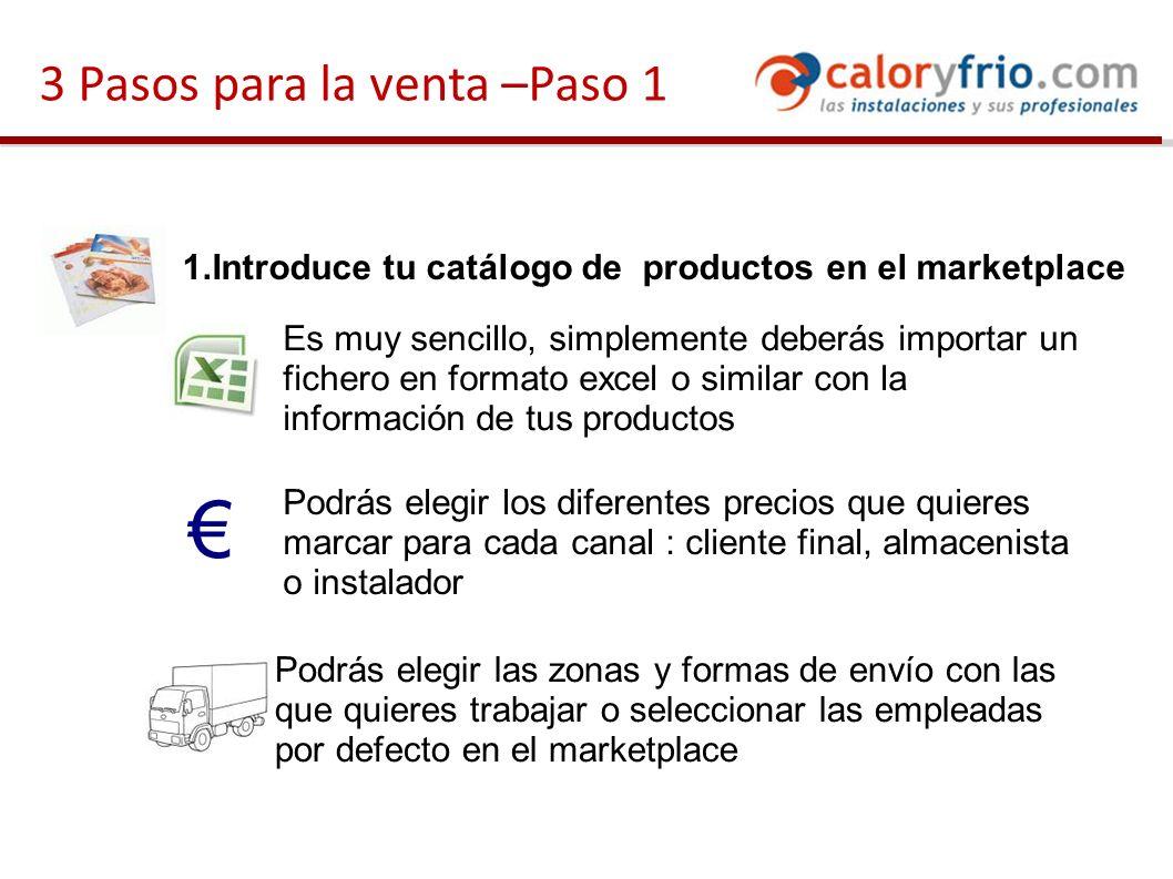 Ejemplo de home del marketplace Introducción del servicio.