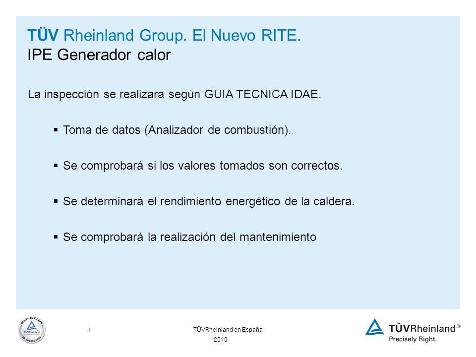 19 2010 TÜVRheinland en España TÜV Rheinland Group.