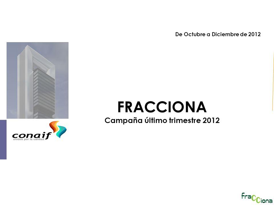 FRACCIONA Campaña último trimestre 2012 De Octubre a Diciembre de 2012