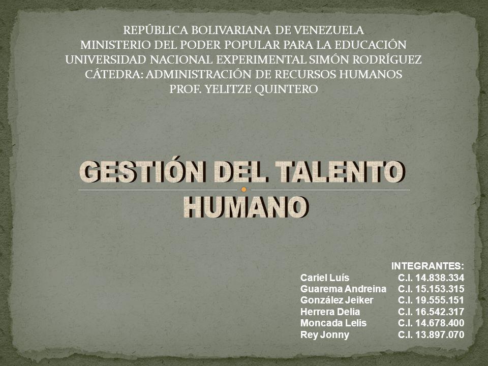 REPÚBLICA BOLIVARIANA DE VENEZUELA MINISTERIO DEL PODER POPULAR PARA LA EDUCACIÓN UNIVERSIDAD NACIONAL EXPERIMENTAL SIMÓN RODRÍGUEZ CÁTEDRA: ADMINISTR