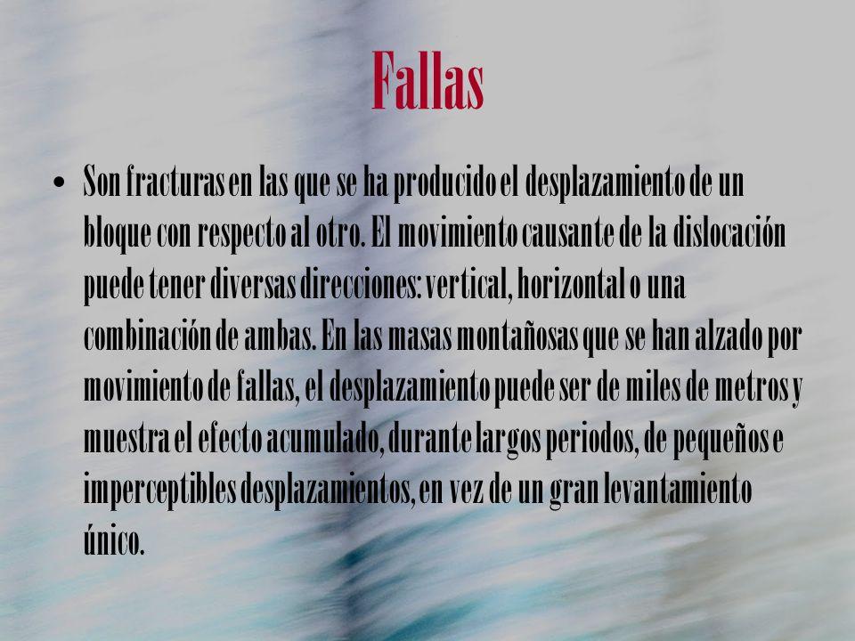 A sociaciones de fallas Fallas escalonadas: conjunto de fallas normales de planos paralelos.