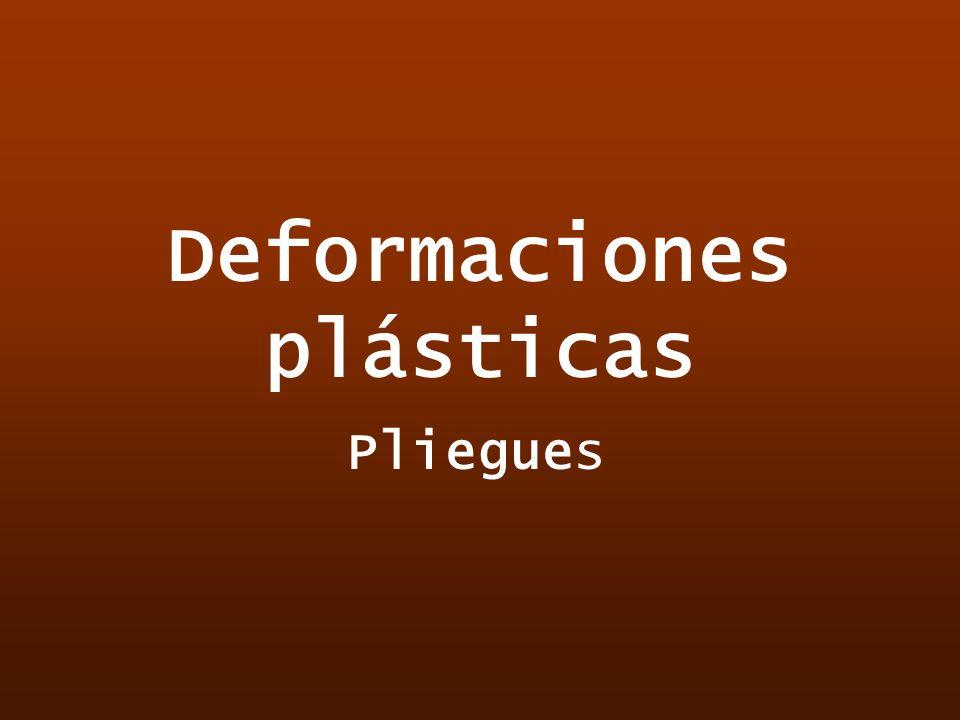 Deformaciones plásticas Pliegues